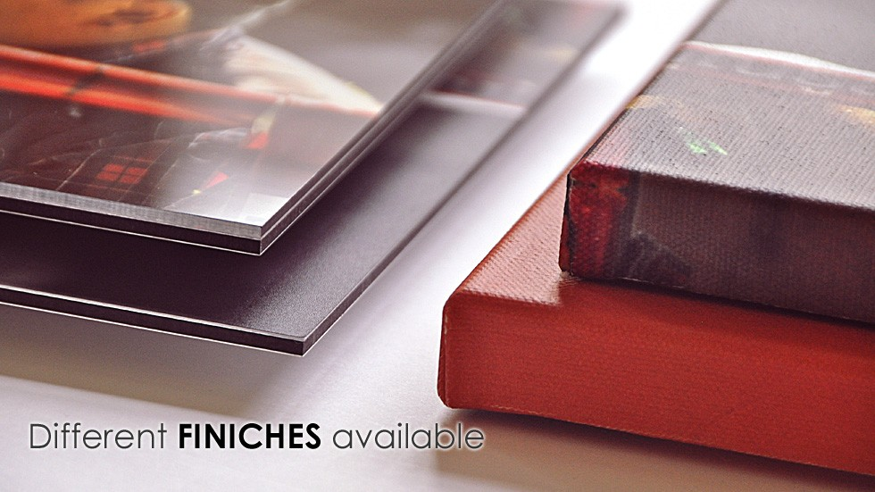 Different finishes available